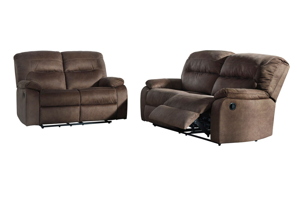 Signature Design by Ashley Bolzano-Coffee Reclining Sofa and Loveseat