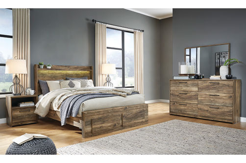 Signature Design by Ashley Rusthaven 6-Piece King Bedroom Set- Room View