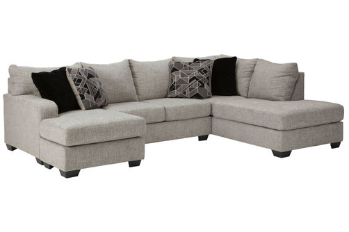 Benchcraft Megginson-Storm 2-Piece Sectional- Room View