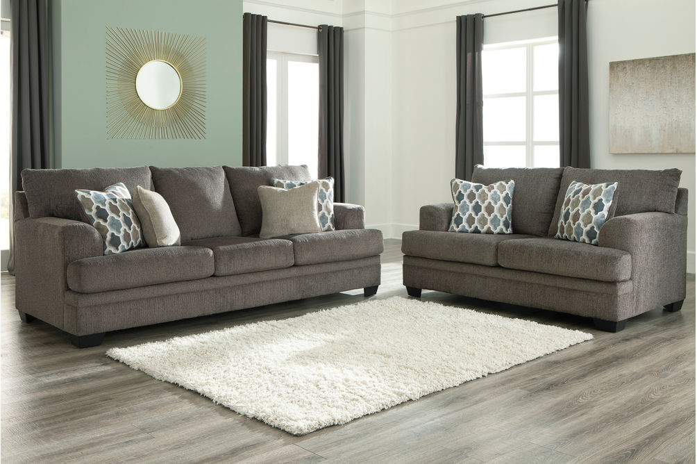 Signature Design by Ashley Dorsten-Slate Sofa and Loveseat- Room View