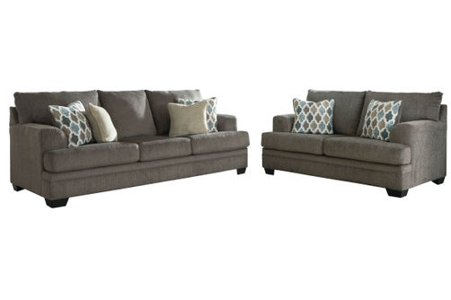 Signature Design by Ashley Dorsten-Slate Sofa and Loveseat