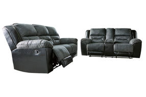 Signature Design by Ashley Earhart-Slate Reclining Sofa and Loveseat