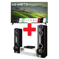 "LG 65"" Smart 4K UHD Smart TV + 1000W Home Theater System"