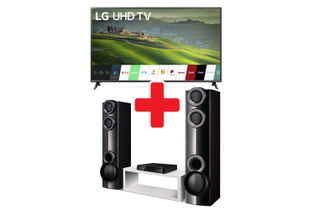 "LG 65"" Smart 4K UHD Smart TV + 1000W Home Theater System"
