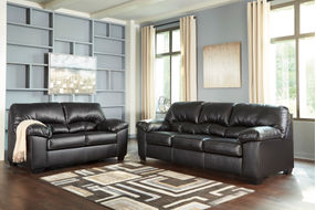 Benchcraft Brazoria-Black Sofa and Loveseat- Room View