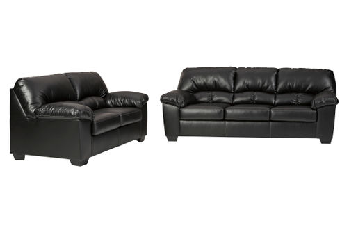 Benchcraft Brazoria-Black Sofa and Loveseat
