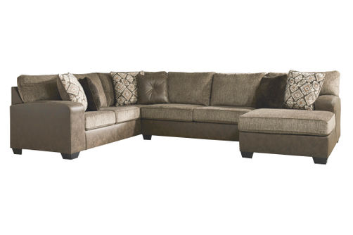 Benchcraft Abalone Chocolate 3-Piece Sectional