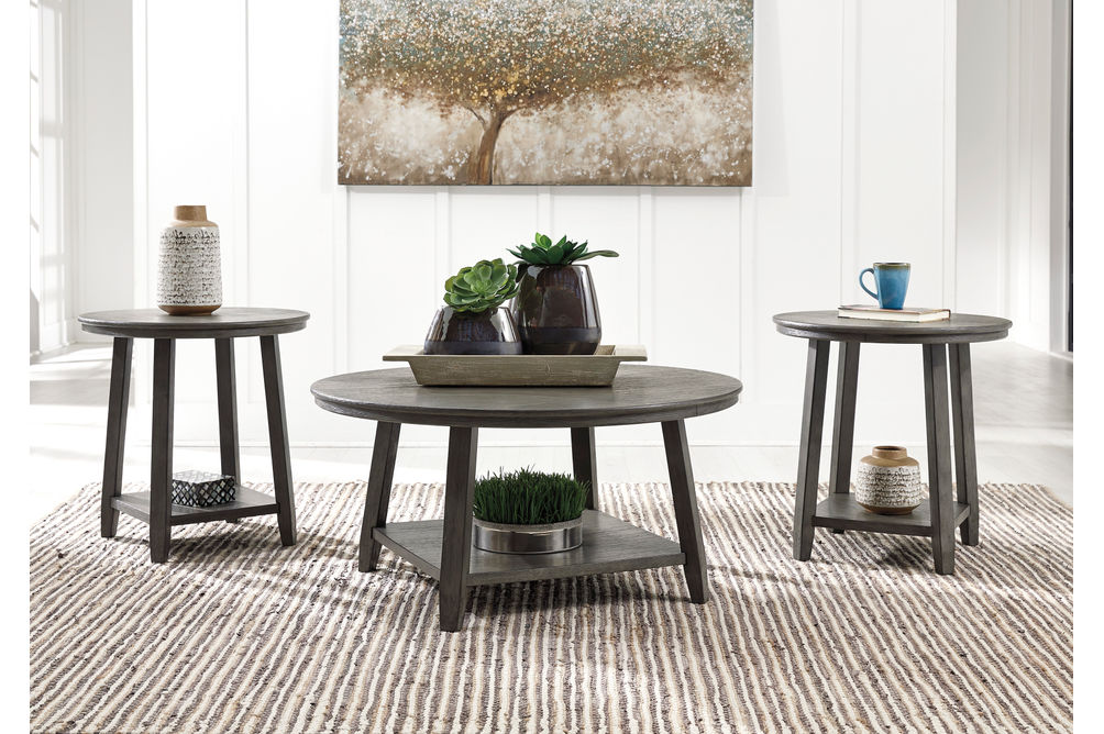 Signature Design by Ashley Caitbrook Coffee and End Table Set- Room View