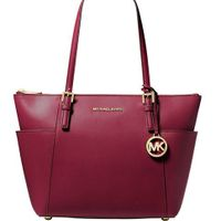 Michael Kors Jet Set East West Large Tote - Berry