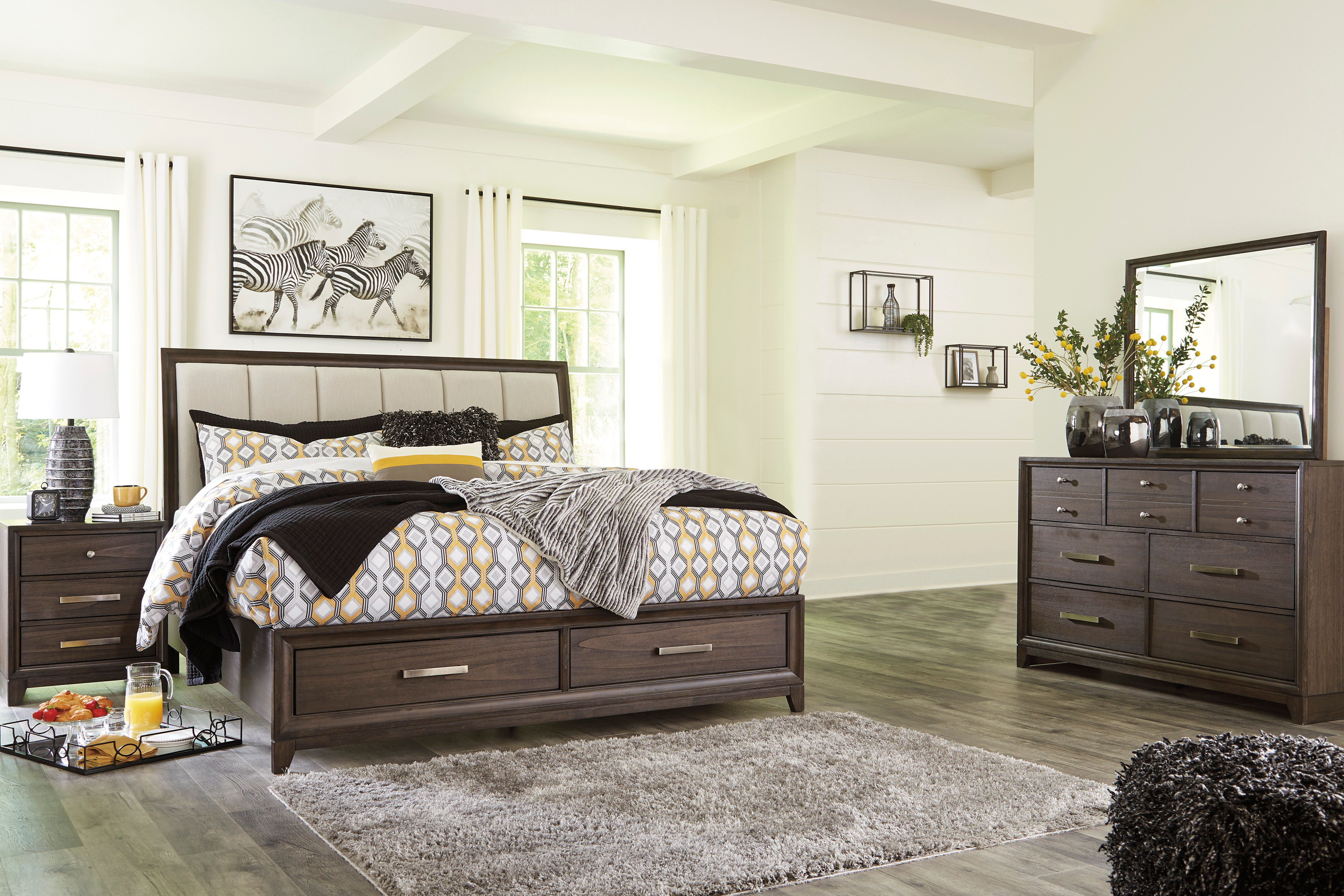 Signature Design By Ashley Brueban 6 Piece King Bedroom Set Same Day Delivery At Rent A Center
