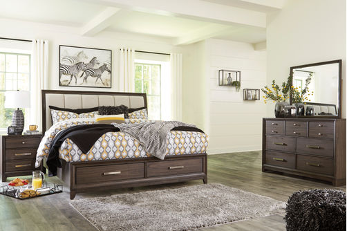 Signature Design by Ashley Brueban 6-Piece King Bedroom Set- Room View