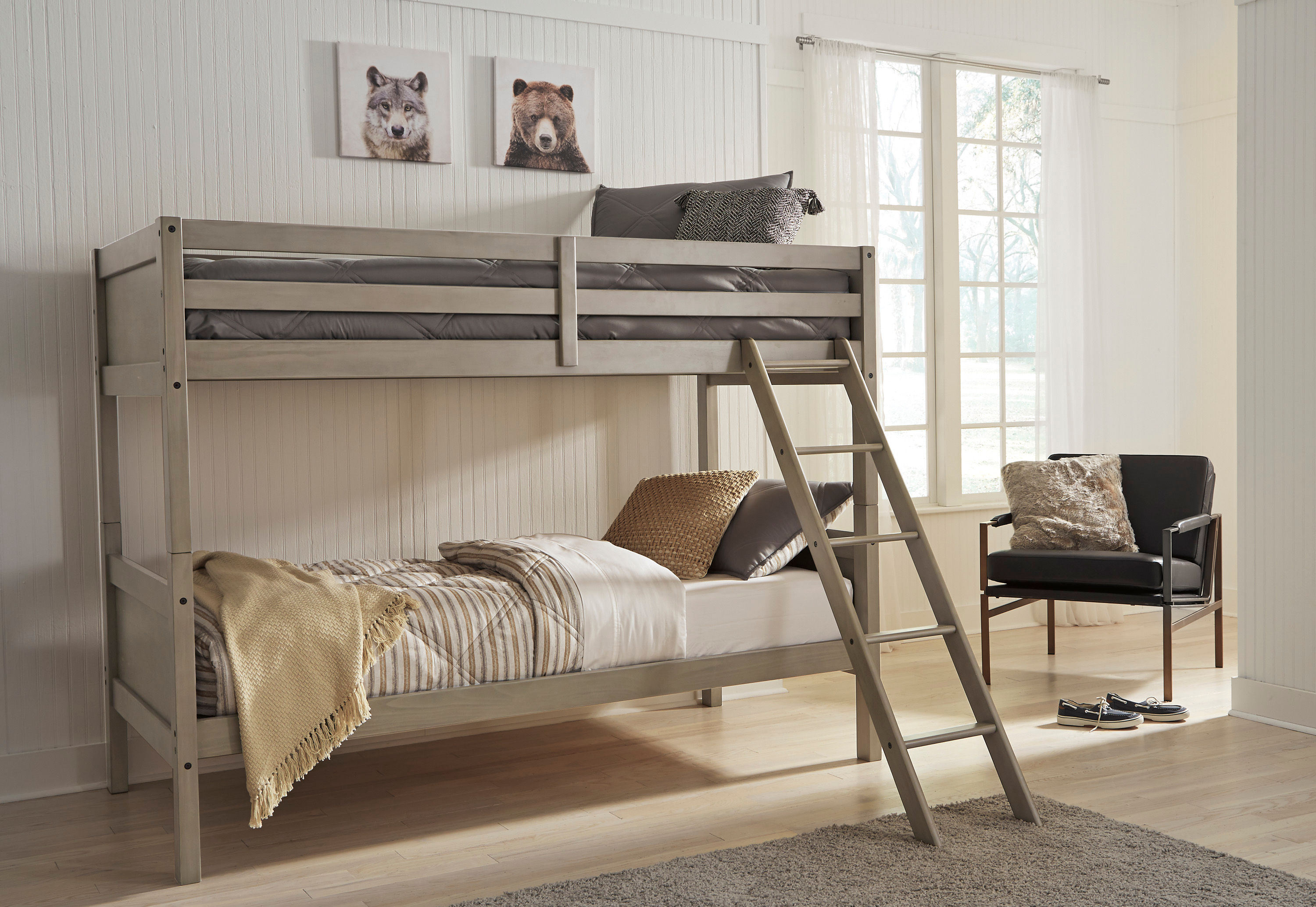 Signature Design By Ashley Lettner Twin Over Twin Bunk Bed Same Day Delivery At Rent A Center