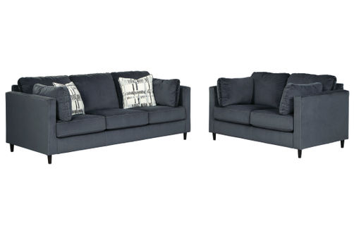 Signature Design by Ashley Kennewick-Shadow Sofa and Loveseat