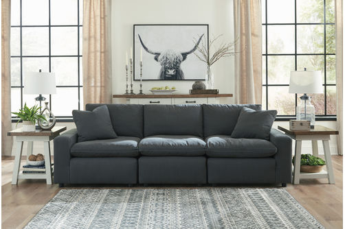 Signature Design by Ashley Savesto-Charcoal 3-Piece Sectional- Room View