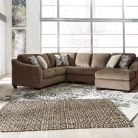 Benchcraft Graftin-Teak 3-Piece Sectional- Room View