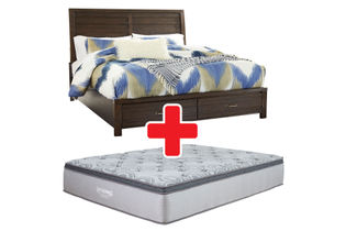Signature Design by Ashley Darbry Queen Bed + Mattress Bundle