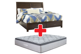 Signature Design by Ashley Darbry King Bed + Mattress Bundle