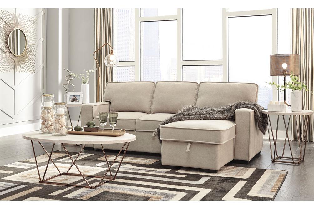Signature Design by Ashley Darton-Cream Sofa Chaise with Storage