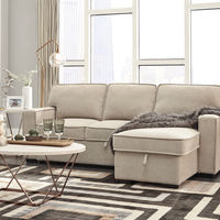 Signature Design by Ashley Darton-Cream Sofa Chaise with Storage