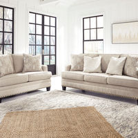 Benchcraft Claredon-Linen Sofa and Loveseat- Room View