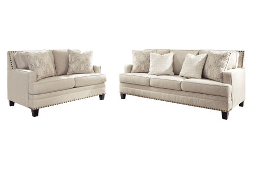Benchcraft Claredon-Linen Sofa and Loveseat