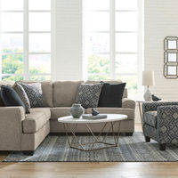 Signature Design by Ashley Bovarian-Stone 2-Piece Sectional and Accent Chair- Room View