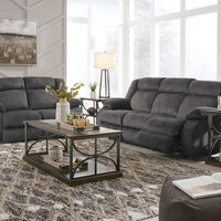 Signature Design by Ashley Burkner Power Reclining Sofa and Loveseat- Room View
