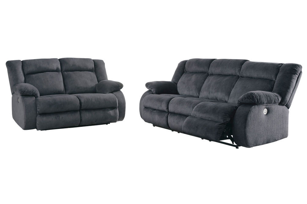 Signature Design by Ashley Burkner Power Reclining Sofa and Loveseat