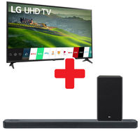 LG 55 Inch 4K UHD LED Smart TV + 3.1.2 Channel Sound Bar
