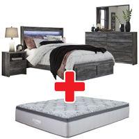 Signature Design by Ashley Baystorm 7-Piece Queen Bedroom Set + Mattress Bundle