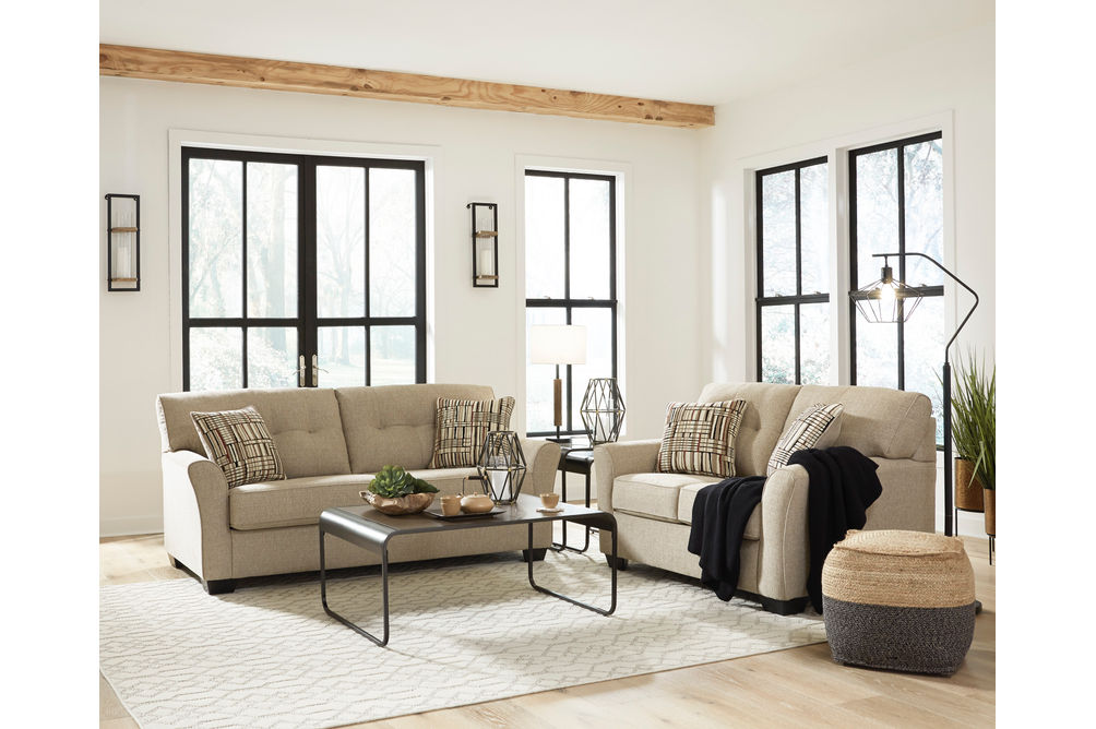 Benchcraft Ardmead Sofa and Loveseat - Room View