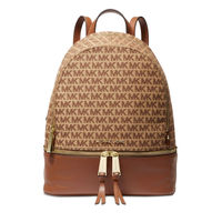 Michael Kors Rhea Signature Medium Backpack - Beige/Ebony