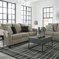 Benchcraft Barnesley-Platinum Sofa and Loveseat - Sample Room View