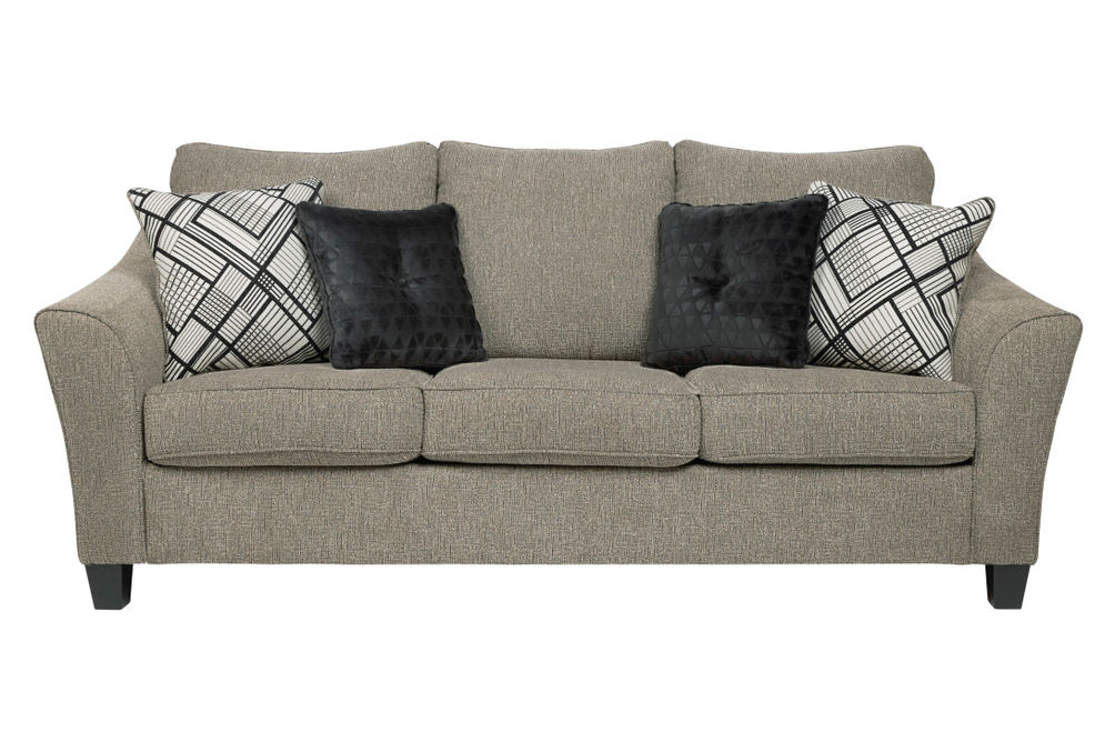 Benchcraft Barnesley-Platinum Sofa and Loveseat - Sofa with Pillows