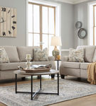 Signature Design by Ashley Alessio-Beige Sofa and Loveseat- Room View