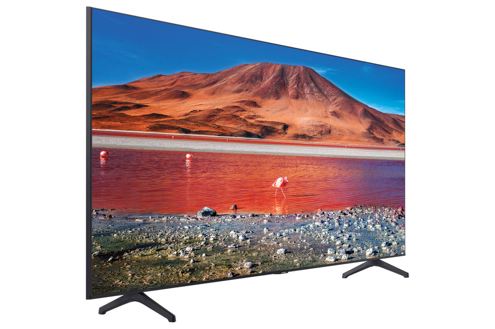 Samsung 75 inch 4K UHD LED Smart TV UN75TU7000FXZA- Side Angle View