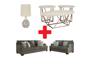 Signature Design by Ashley Dorsten-Slate 7-Piece Living Room Bundle