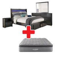 Signature Design by Ashley Faemond King Bedroom and Mattress Bundle