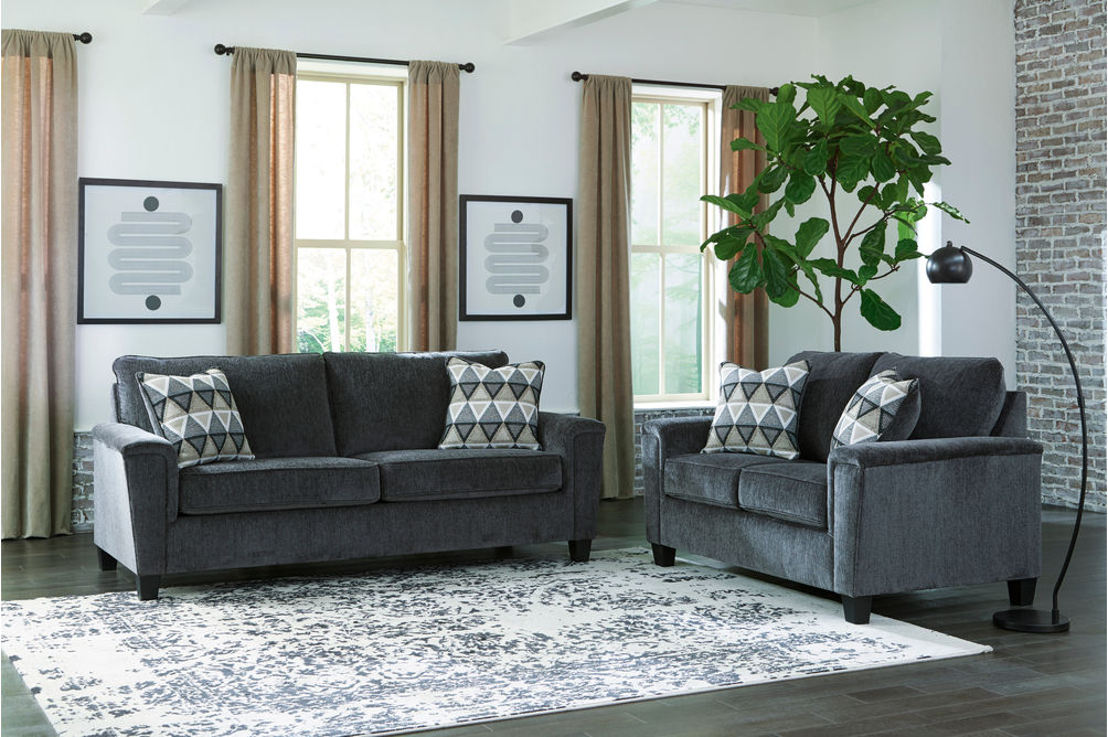 Signature Design by Ashley Abinger-Smoke Sofa and Loveseat- Alternate Room View
