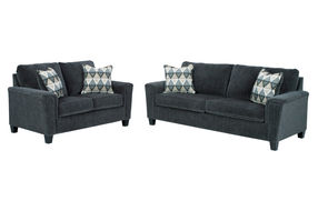 Signature Design by Ashley Abinger-Smoke Sofa and Loveseat