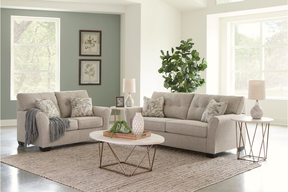 Signature Design by Ashley Ardmead Sofa and Loveseat- Room View