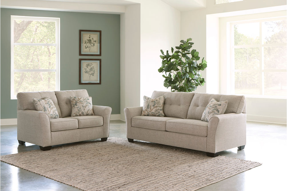 Signature Design by Ashley Ardmead Sofa and Loveseat- Alternate Room View