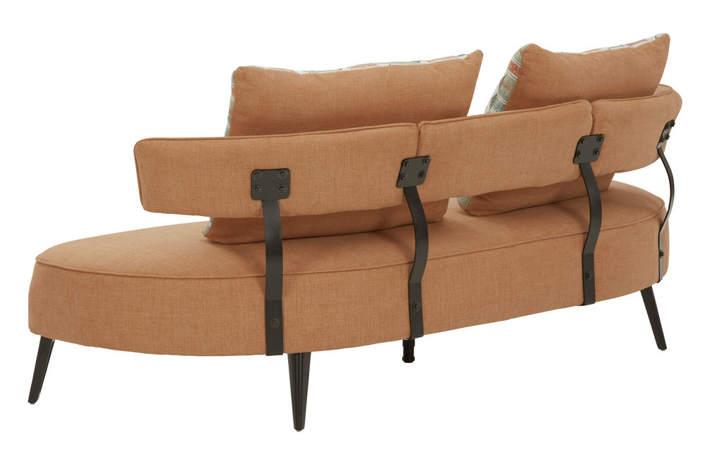Signature Design by Ashley Hollyann-Rust Sofa and Ottoman Set- Back View