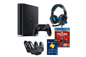 Sony PlayStation 4 Slim Video Game Console Mega Bundle