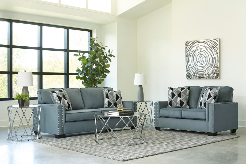 Signature Design by Ashley Gleston Gray Sofa and Loveseat- Room View