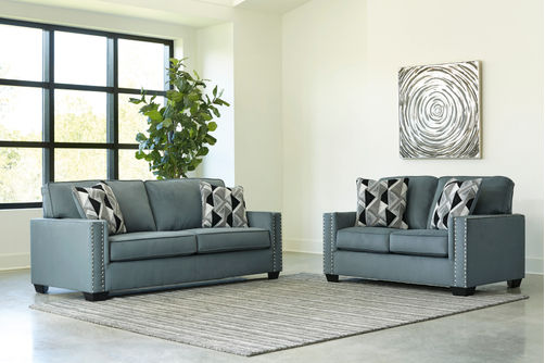 Signature Design by Ashley Gleston Gray Sofa and Loveseat- Alternate View