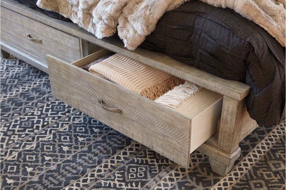 Benchcraft Naydell Queen Storage Bed- Room View- Drawers