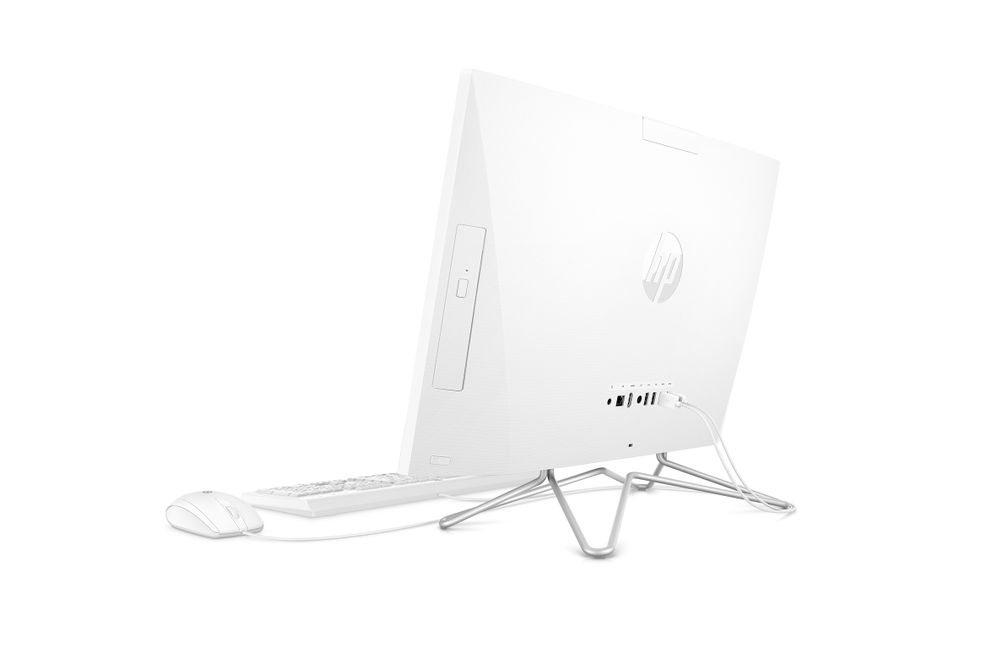 HP 23.8 inch All-In-One AMD Athlon 3050U Desktop Computer- Back View