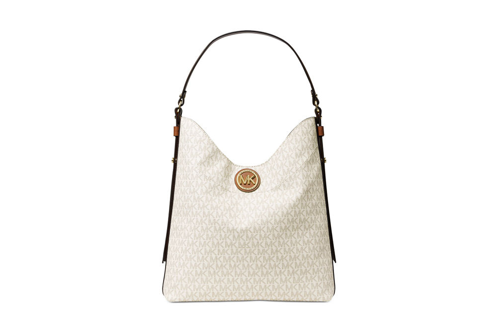 Michael Kors Bowery Large Shoulder Bag - Vanilla