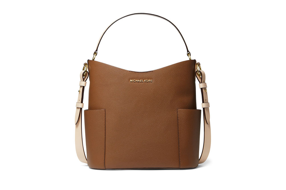 Michael Kors Bedford Medium Bucket Shoulder Bag- Luggage